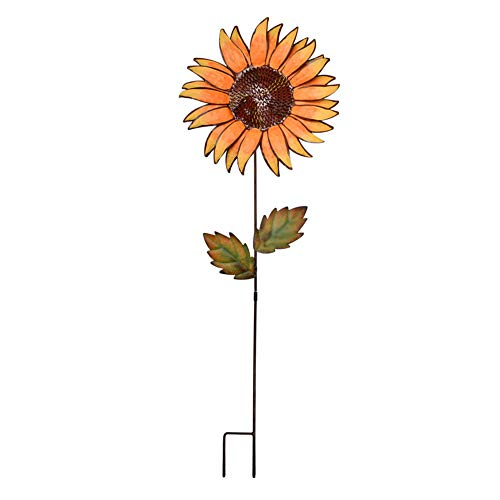E-view Metal Sunflower Garden Stakes - Spring Outdoor Decorative Plant Flower Stake - Lawn & Yard Ornaments (36')