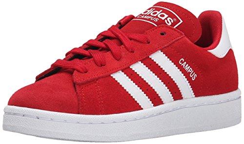 adidas Originals Campus J Shoe (Big Kid), Scarlet Red/White/Scarlet Red, 5 M US Big Kid