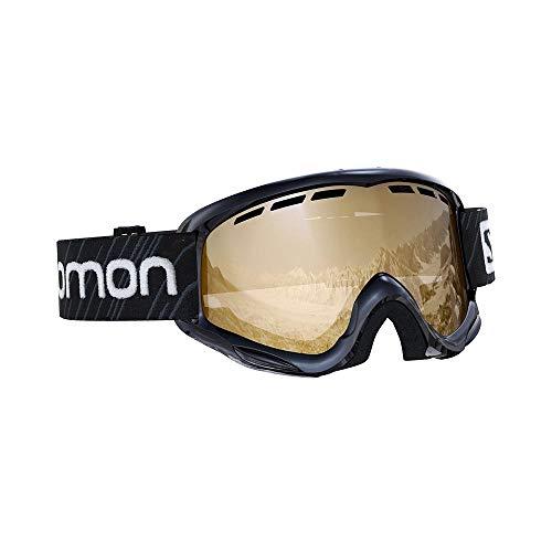 Salomon, Juke Access, Máscara de esquí para niños (6-12 años), Negro/Naranja Universal Tonic, L40848100