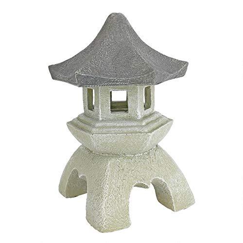 Design Toscano Asiatische Deko Pagodalaterne Outdoor-Statue, 25,5 cm