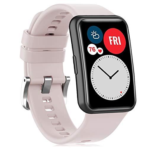 Onedream Correa Compatible para Huawei Watch Fit Banda, Silicona Suave Repuesto Respirable Pulsera, Deportiva Ajustable Accesorios para Hombre Mujere (Sin Reloj)