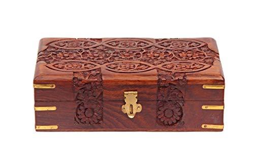 Store Indya, Mano agraciado tallado de madera de la baratija