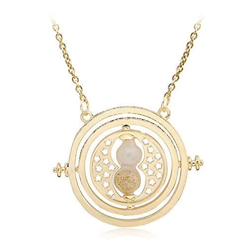 Conversor de tiempo oro reloj de arena colgante accesorios creativos hombres y mujeres collares moda tendencia regalos