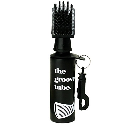 ProActive Sports Groove Tube Golf Club Cleaner Squeeze Bottle Brush , black, 7 1/2 inches tall