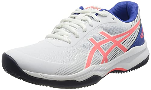 ASICS Gel-Game 8 Clay/OC, Zapatillas de Tenis Mujer, White Blazing Coral, 39 EU