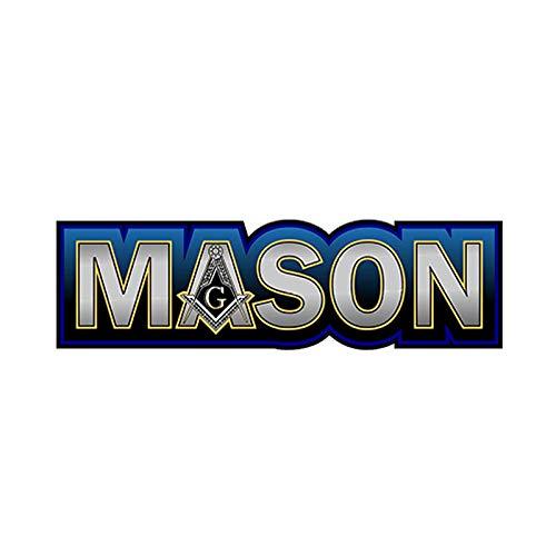 Jinling Modelado de automóviles Mason Mason JDM Aplique Etiqueta engomada de automóvil Impermeable Decoración de la Ventana del Parachoques 15cm x 44cm (Color : 1)