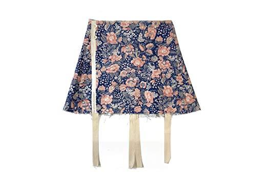 Olubiyi Thomas Minifalda Plisada en la Parte Posterior S (algodón, Azul-Rosa)
