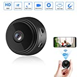 Mini Camera WiFi Small Wireless Full HD 1080P Video Camera with 32G SD Card, Portable Tiny Nanny Cam with Night Vision Motion Detection for Office, Car and More