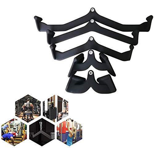 WAGX Home Gym Fitness Remo Bar, 5 x polea del Cable de la máquina Kit de fijación - Fijación de tríceps aprieta el Cable de Entrenamiento Multi Gym Bar Crossover