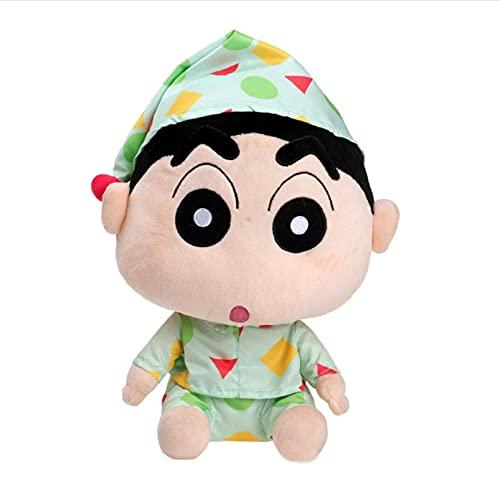 vwsitc Juguetes De Peluche Crayon Shin Chan Pijamas Muñeco De Nieve Muñeco De Anime Japonés Shin-Chan Regalos para Niños 25Cm