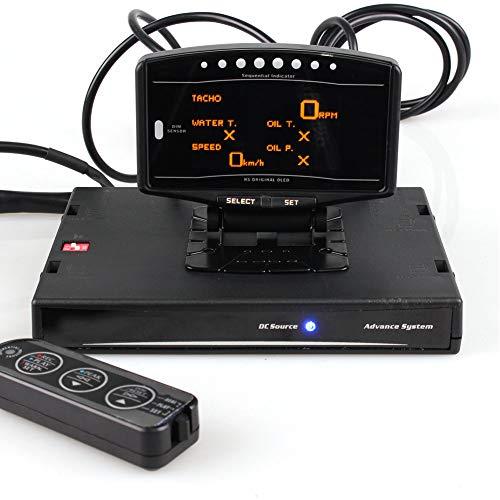 Medidor digital multifunción para coche, Indicador de pantalla digital de datos múltiples 10 en 1 en voltios/temperatura del agua/temperatura del aceite/presión de aceite/RPM/presión del combustible