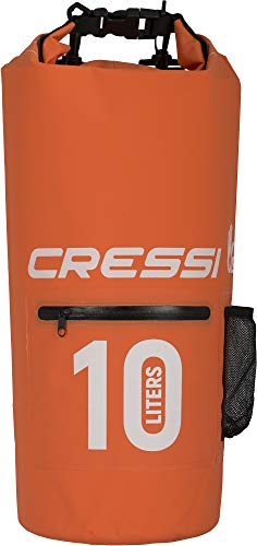 Cressi Dry Bag, Sacca/Zaino Impermeabile per attività Sportive Unisex Adulto, Arancio con Zip, 10 LT