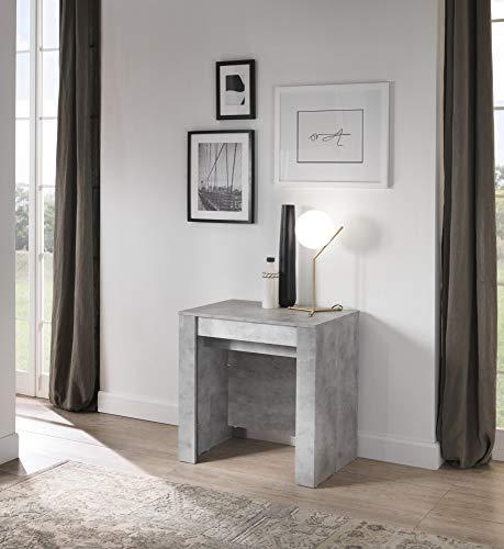 Tavolo consolle allungabile fino a 250 cm 79 x 54 x 78 cm Salvaspazio, Multiuso per cucina, sala da pranzo, soggiorno, zona living (Cemento)