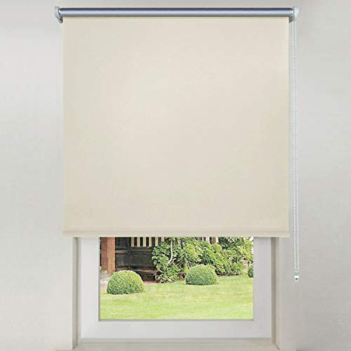 Hengda Doppelrollo Klemmfix ohne Bohren 70cm x 200cm Beige Duo Rollo Klemmrollo Sonnenschutzrollo Fensterrollo für Fenster & Türen Seitenzugrollo