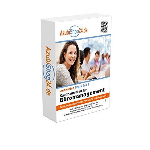 Lernkarten Kaufmann / Kauffrau für Büromanagement (Teil 2): Prüfungsvorbereitung Kaufmann / Kauffrau für Büromanagement Prüfung AzubiShop24.de