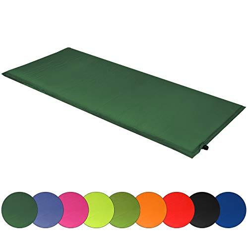 ALPIDEX Isomatte Selfinflating Matte Selbstaufblasende Outdoor Thermomatte in Verschiedene Größen und Farben, Farbe:grün, Maße:200 x 66 x 10 cm
