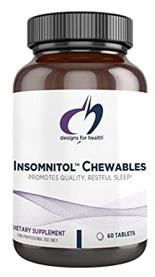 Designs for Health Insomnitol Chewables - Melatonin, L-Theanine + 5-HTP for Sleep Support (60 Tablets)