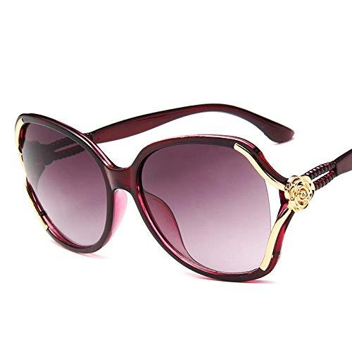 IRCATH Gafas de Sol Mujer Retro Lady Drive Eyewear Ladies Gafas de Sol UV 400 Espejo Hembra Gafas Gafas Adecuado para Conducir Playa-Rojo