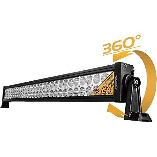 Eyourlife 22' 120W Faro LED Fuoristrada Barra LED Luminosa LED Faro LED Auto Impermeabile Luci da Auto Condotto di Azionamento LED Fanale LED in Lega 4WD Barca