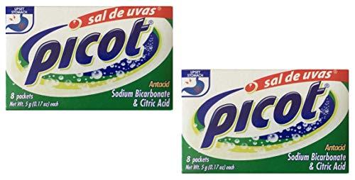 Picot Sal De Uvas Antacid 8 packets, 2-pack