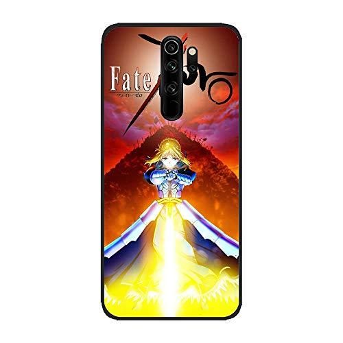 Black TPU Silicone Rubber Gel Edge Flexible Printed Phone Case for XIAOMI Redmi Note 8 Pro-Stay Night-Fate Zero 5