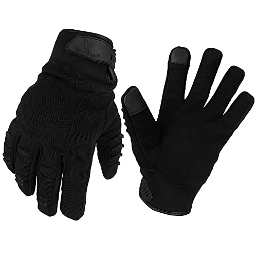 TacFirst PROTECTOR Einsatzhandschuhe CoolDuty H007 360° schnitthemmend, atmungsaktive Dienst Touchscreen Security und Polizei Handschuhe (Schwarz, M)