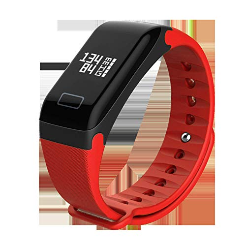 Pulsera Deportiva_f1 Pulsera Inteligente Paso Ritmo cardíaco presión Arterial oxígeno sanguíneo Impermeable Deportes Inteligente Bluetooth@Segundo