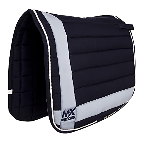 Aone Max Elegant Quilted Horse Saddle Pad with Braided Cord with Trim Crown...