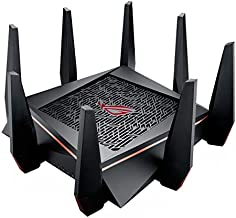 ASUS Gaming Router Tri-bAnd WiFi (Up to 5334 Mbps) For VR & 4K streaming, 1.8GHz Quad-Core processor, Gaming Port, Whole Home Mesh System, & AiProtection Network With 8 x Gigabit LAN ports(GT-AC5300)