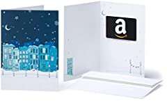 Gift Card is affixed inside a greeting card Gift amount may not be printed on Gift Cards Gift Card has no fees and no expiration date No returns and no refunds on Gift Cards Gift Card is redeemable towards millions of items storewide at Amazon.com Sc...
