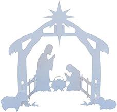 Ububiko Kerst kerststal scène, Jezus scène invoegen kaart plastic plaat heilige familie geboorte scène outdoor scènes kers...
