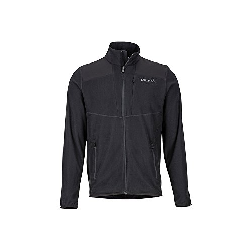 Marmot Men's Reactor 100-Weight Fleece Jacket, Black, Medium
