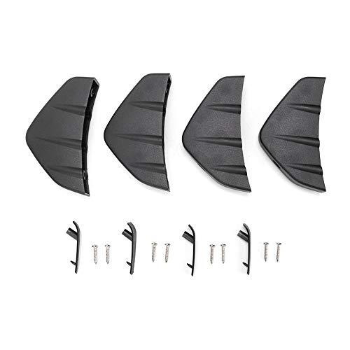 KIMISS Heckspoiler, ABS 4tlg. Heckstoßstange Lip Spoiler Shark Fin Style Black Universal Parts