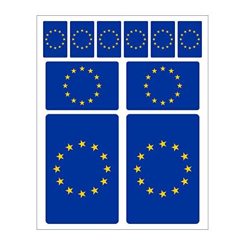 Generisch 10 Stück Flaggen Aufkleber Europa Set | Sticker EU Autoaufkleber