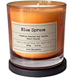 CoCo Benjamin (Blue Spruce) Soy Candle, 8.1 oz, Highly Scented, Hand Poured