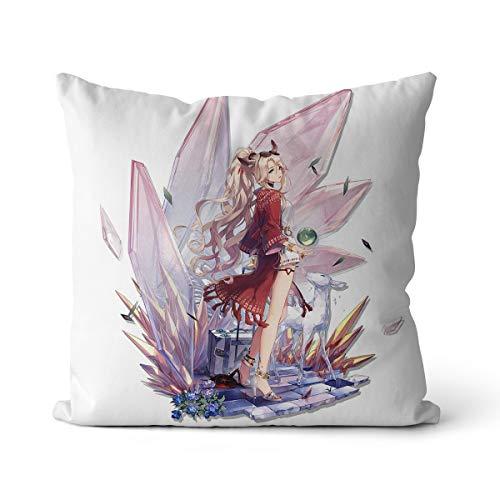 Arknights Far Mountain Skin - Cojín para silla, juego de personajes, cojín para casa, sofá, salón, decoración del hogar, 55 x 55 cm