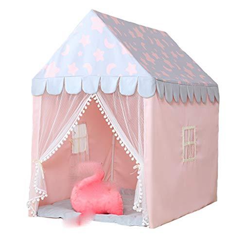 Tiendas de Niños Tienda De Campaña For Niños Y Niñas, Gran Espacio For Niños En Interiores, Castillo De Juego Privado For Niños, Fácil De Instalar PVC Soporte, 125x95x140cm, 3 Colores (Color : Pink)