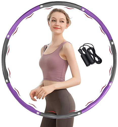 TTMOW Fitness Exercise Hoop zur Gewichtsreduktion, mit Rostfreier Stahl & Schaumstoff, 8 Segmente Abnehmbar, Gewicht Einstellbarer Fitnessreifen