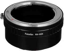 Fotodiox Lens Mount Adapter - Nikon Lens to Sony NEX E-Series Camera fits Sony NEX-3, NEX-5, NEX-5N, NEX-7 and Sony Video Camcorder NEX-VG-10 VG10