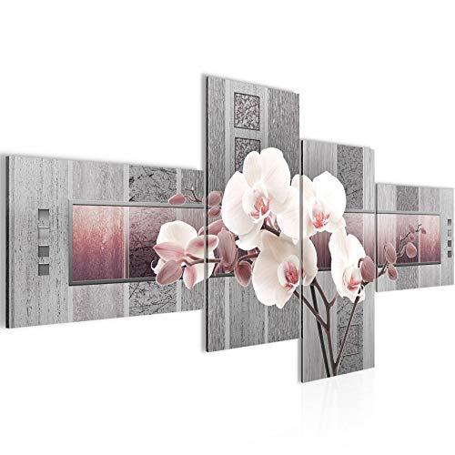 Bild XXL Blumen Orchidee 200 x 100 cm Kunstdruck Vlies Leinwandbild Wanddekoration Wohnzimmer Schlafzimmer 204641c