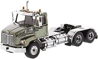 Diecast Masters Western Star 4700 SB Tandem Day Cab Tractor Metallic Olive Green 1/50 Diecast Model 71038