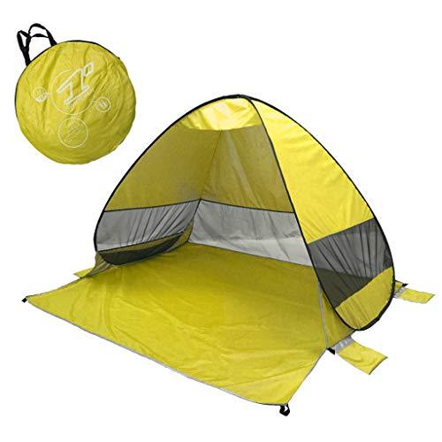 Juliyues Strandzelt pop up Strandmuschel Strandzelt Baby UV Schutz Extra Light Automatische mit Reißverschluss Tragbar Beach Zelt Wurfzelt für Familien Baby Urlaub
