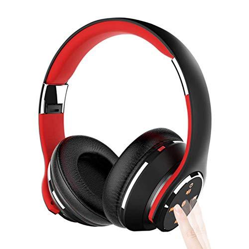 DPDM Auriculares Bluetooth sobre la oreja, auriculares estéreo de alta fidelidad, orejeras de proteína de memoria suave, micrófono incorporado y modo de cable para televisión, PC/teléfono