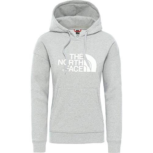 The North Face Light Drew Peak - Sudadera con capucha para mujer, TNF gris claro jaspeado/TNF blanco, extra-large