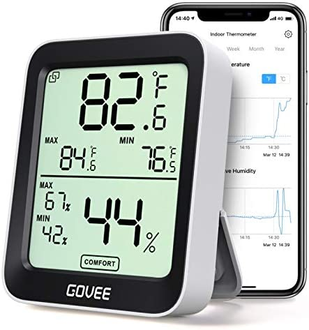 Govee Smart Hygrometer Thermometer Bluetooth Humidity Temperature Gauge with Remote Monitor product image