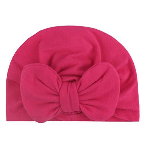 LDDJ Gorro de Ducha 10 Style Baby Cap Bow Pie Bow Fashion Baby Hat Solid Turban Un Pañuelo de la Cabeza para la niña Caps elásticos para Las niñas Accesorios para bebés