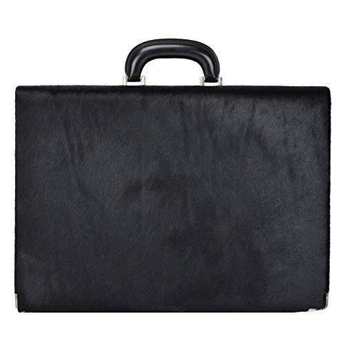 Pratesi Pelletterie, Bolso de piel para hombre Machiavelli/7 Cavallino Maletín 24H de auténtica piel - Caballete negro