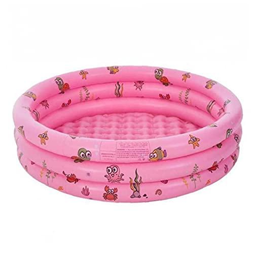 Piscina Piscina inflable 3-Anillos Baby Kids Summer Garden Bathtub For Dddler Pink 80x35cm, Pool Pool