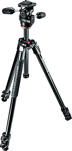 Manfrotto 290 Xtra Aluminum 3-Section Tripod Kit with 3-Way Head...