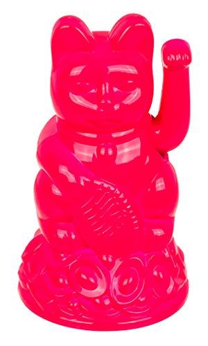 Gato de la suerte Maneki Neko (rosa caliente, 12 cm)